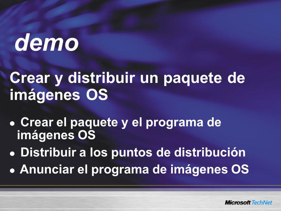 demo Crear y distribuir un paquete de imágenes OS Demo