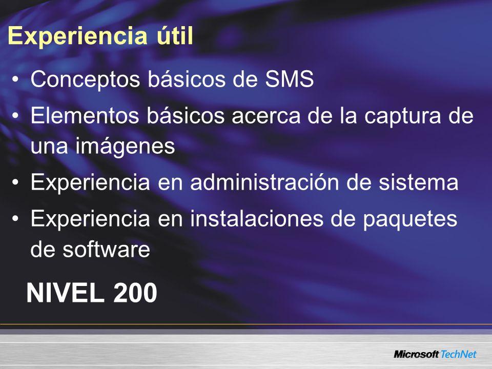 NIVEL 200 Experiencia útil Conceptos básicos de SMS