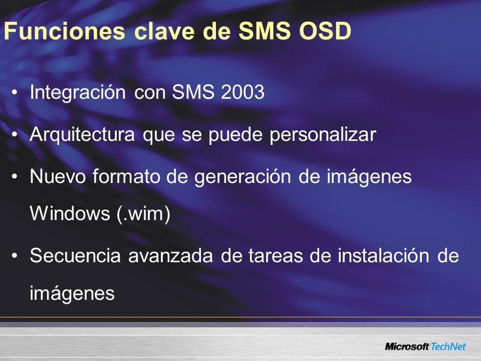 Funciones clave de SMS OSD
