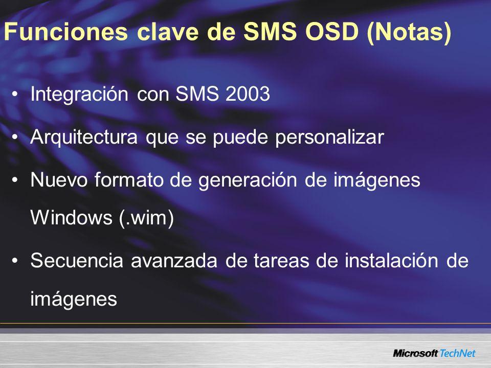 Funciones clave de SMS OSD (Notas)