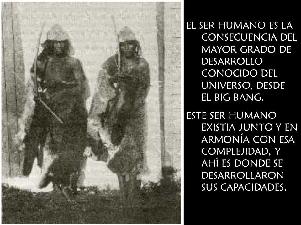 EL SER HUMANO ES LA CONSECUENCIA DEL MAYOR GRADO DE DESARROLLO CONOCIDO DEL UNIVERSO, DESDE EL BIG BANG.