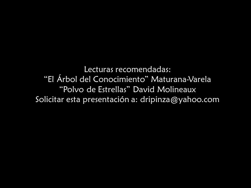 Lecturas recomendadas: El Árbol del Conocimiento Maturana-Varela