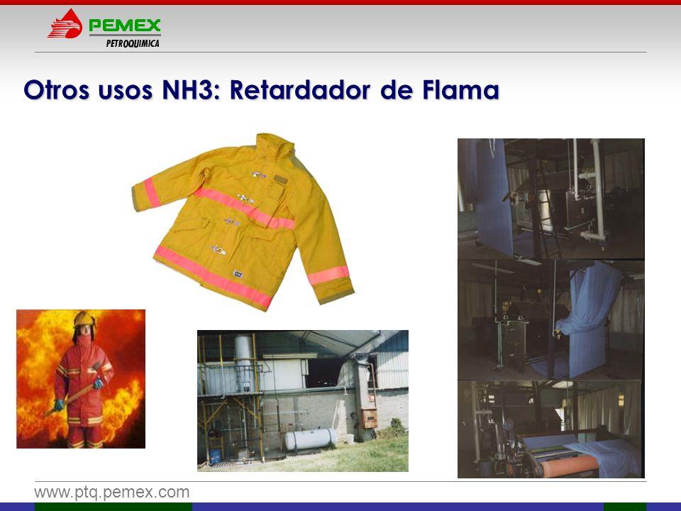 Otros usos NH3: Retardador de Flama