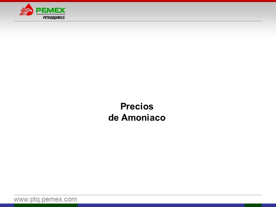 Precios de Amoniaco