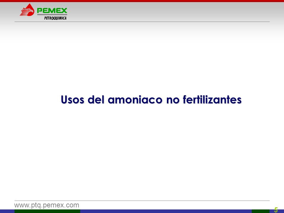 Usos del amoniaco no fertilizantes