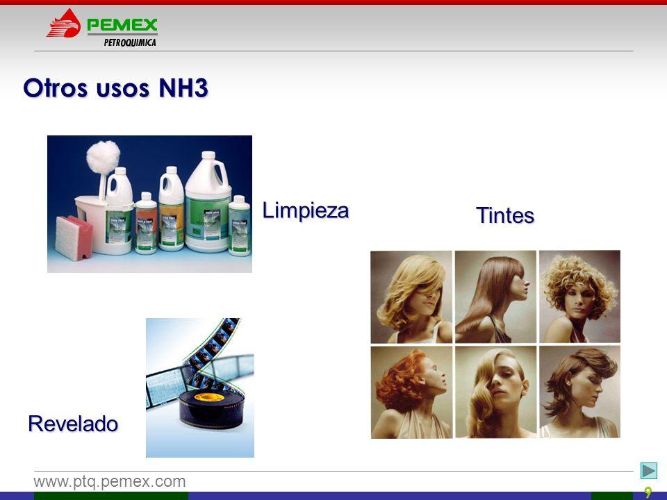 Otros usos NH3 Limpieza Tintes Revelado