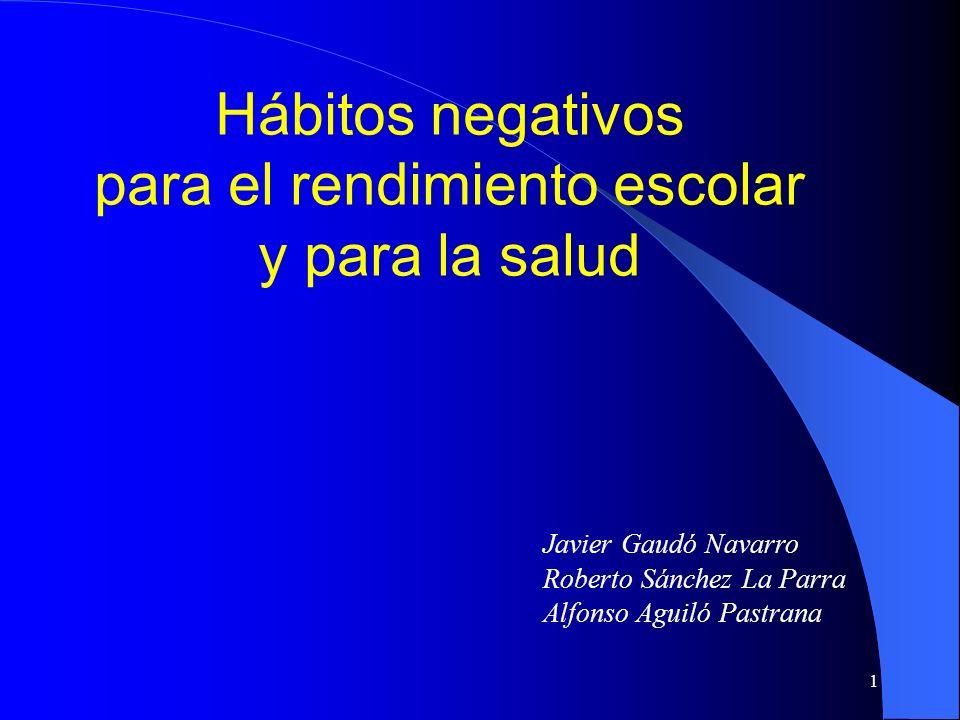 Hábitos negativos para el rendimiento escolar y para la salud
