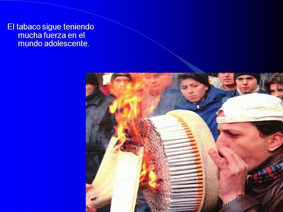 El tabaco sigue teniendo mucha fuerza en el mundo adolescente.