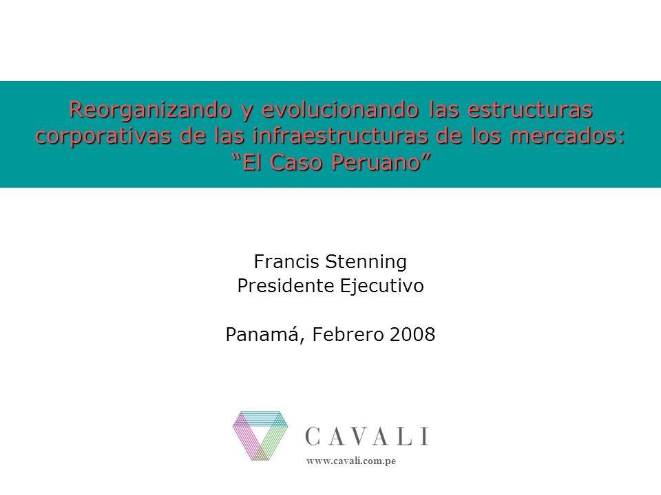 Francis Stenning Presidente Ejecutivo Panamá, Febrero 2008