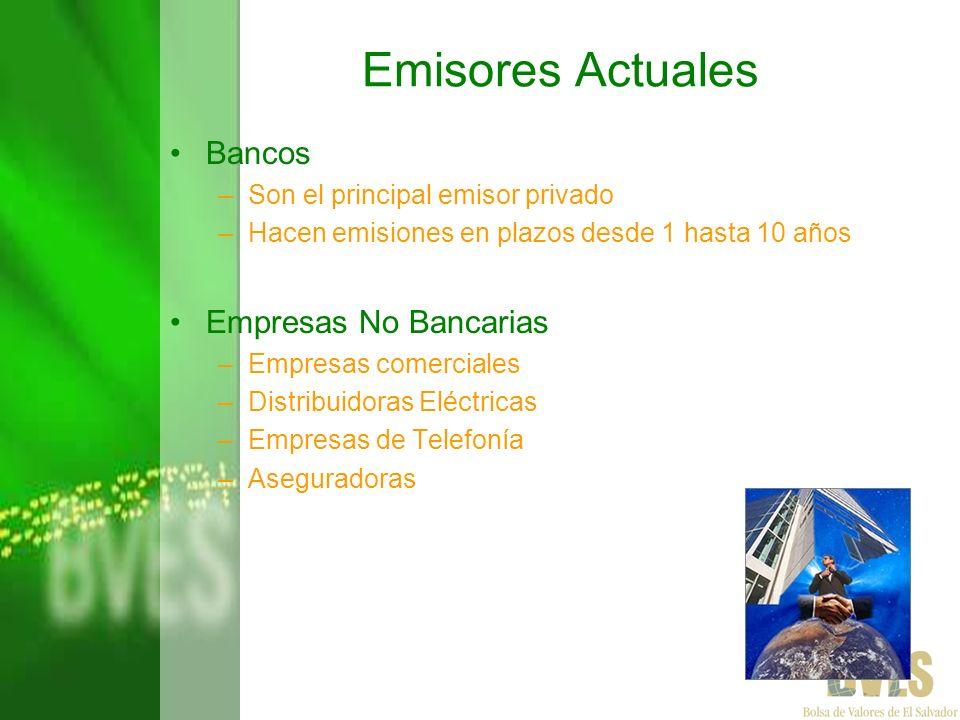 Emisores Actuales Bancos Empresas No Bancarias