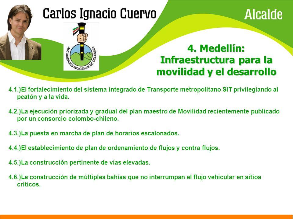 4. Medellín: Infraestructura para la movilidad y el desarrollo