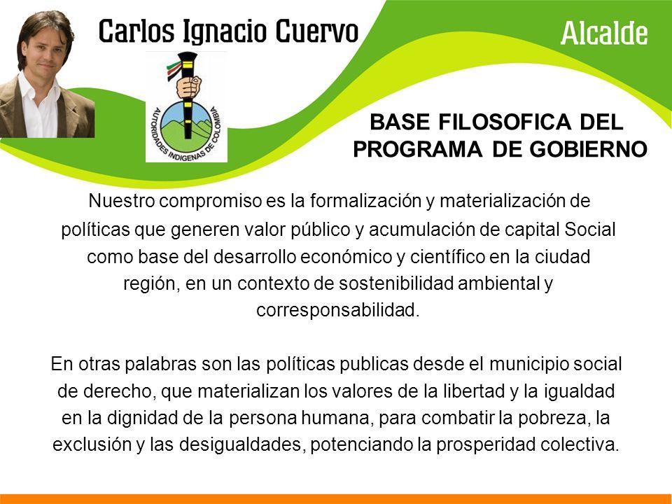 BASE FILOSOFICA DEL PROGRAMA DE GOBIERNO