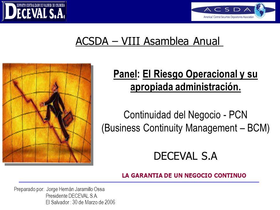 ACSDA – VIII Asamblea Anual