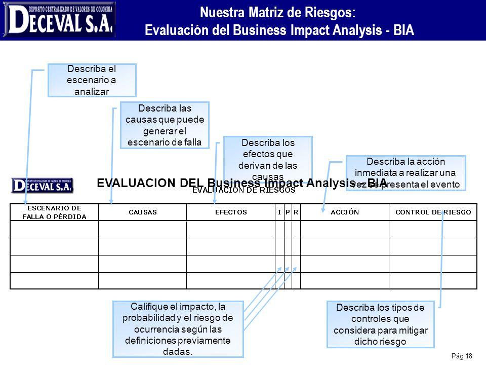 Nuestra Matriz de Riesgos: Evaluación del Business Impact Analysis - BIA