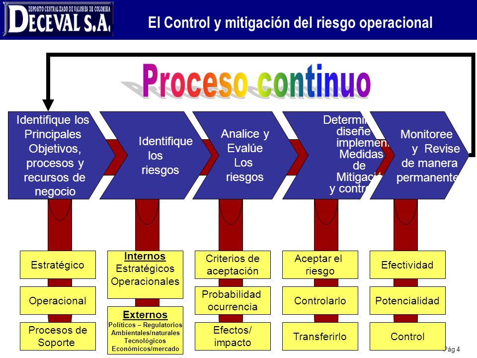 El Control y mitigación del riesgo operacional