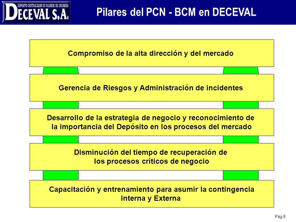 Pilares del PCN - BCM en DECEVAL