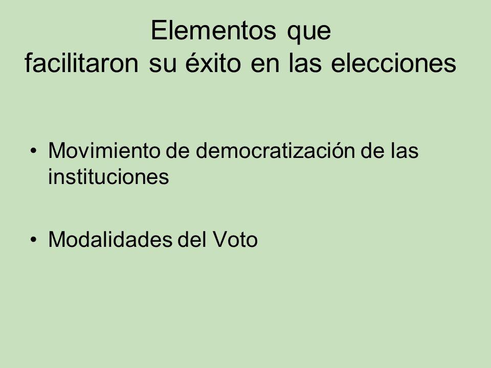 Elementos que facilitaron su éxito en las elecciones