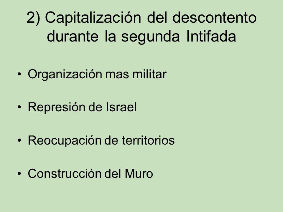 2) Capitalización del descontento durante la segunda Intifada