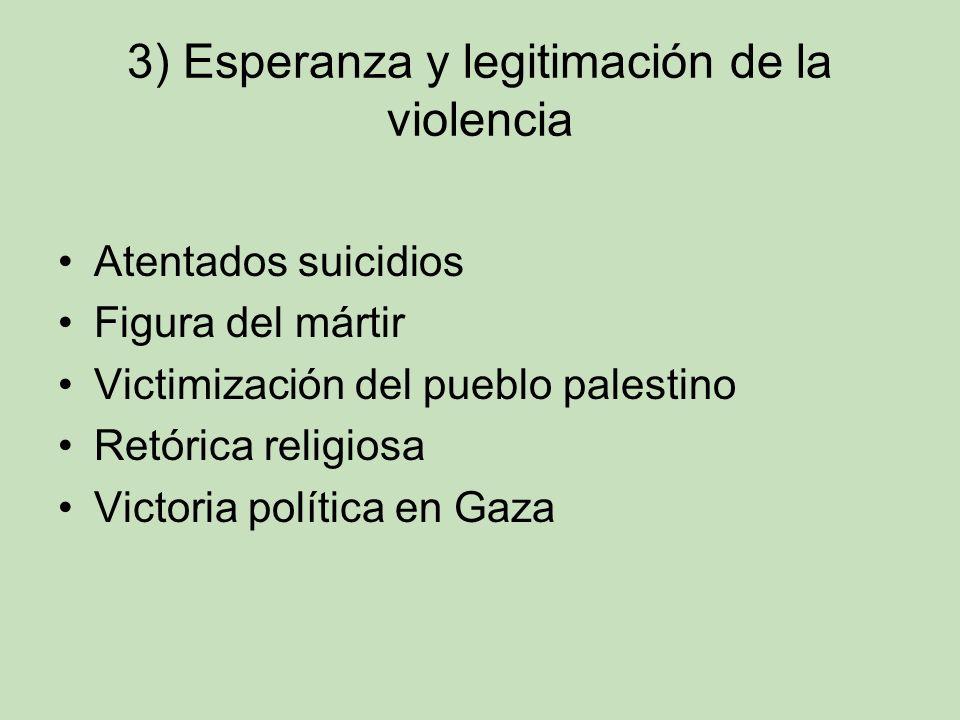 3) Esperanza y legitimación de la violencia