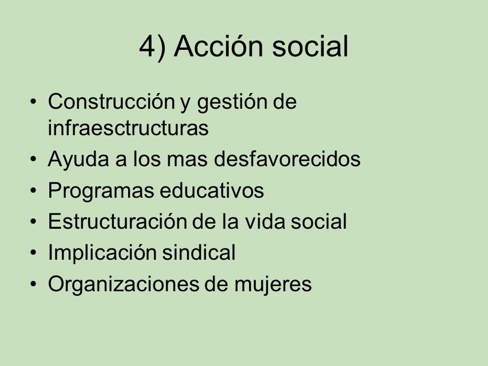 4) Acción social Construcción y gestión de infraesctructuras