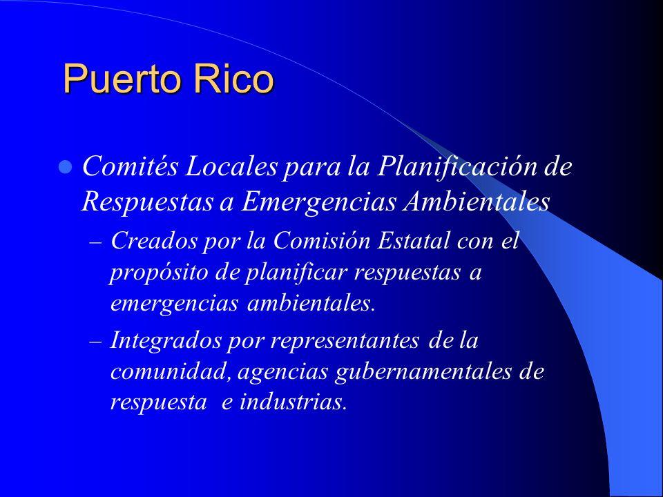 Puerto RicoComités Locales para la Planificación de Respuestas a Emergencias Ambientales.