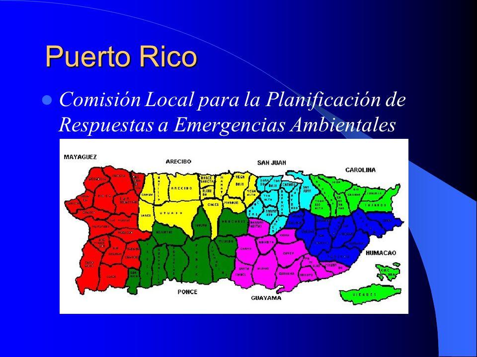 Puerto Rico Comisión Local para la Planificación de Respuestas a Emergencias Ambientales