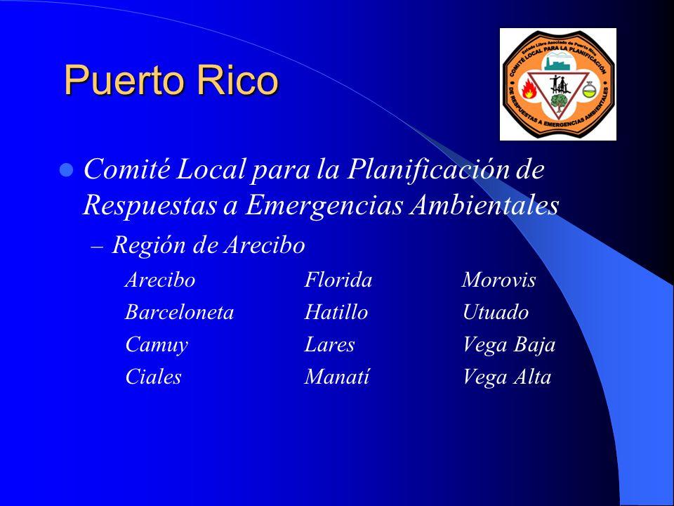 Puerto Rico Comité Local para la Planificación de Respuestas a Emergencias Ambientales. Región de Arecibo.