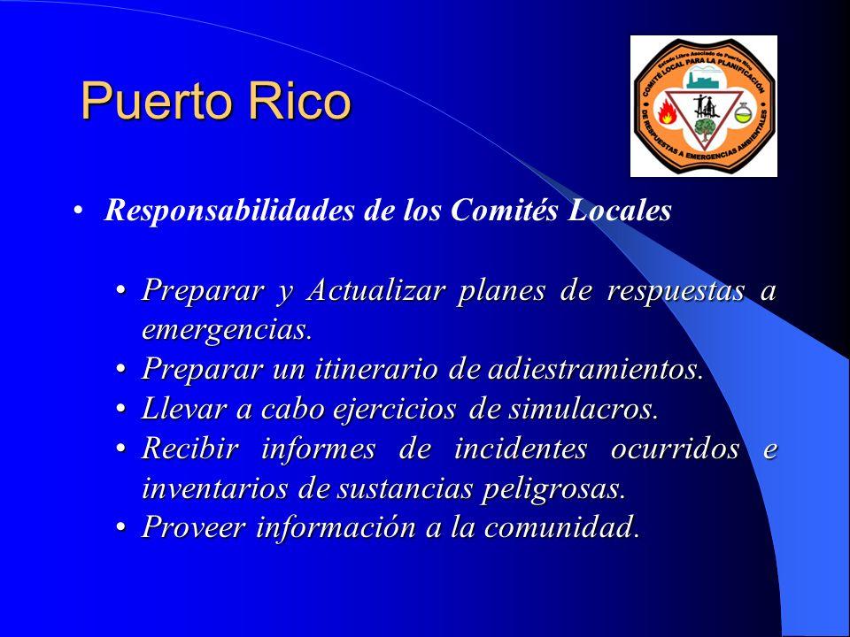 Puerto Rico Responsabilidades de los Comités Locales