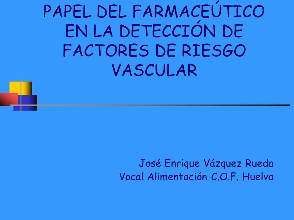 PAPEL DEL FARMACEÚTICO EN LA DETECCIÓN DE FACTORES DE RIESGO VASCULAR