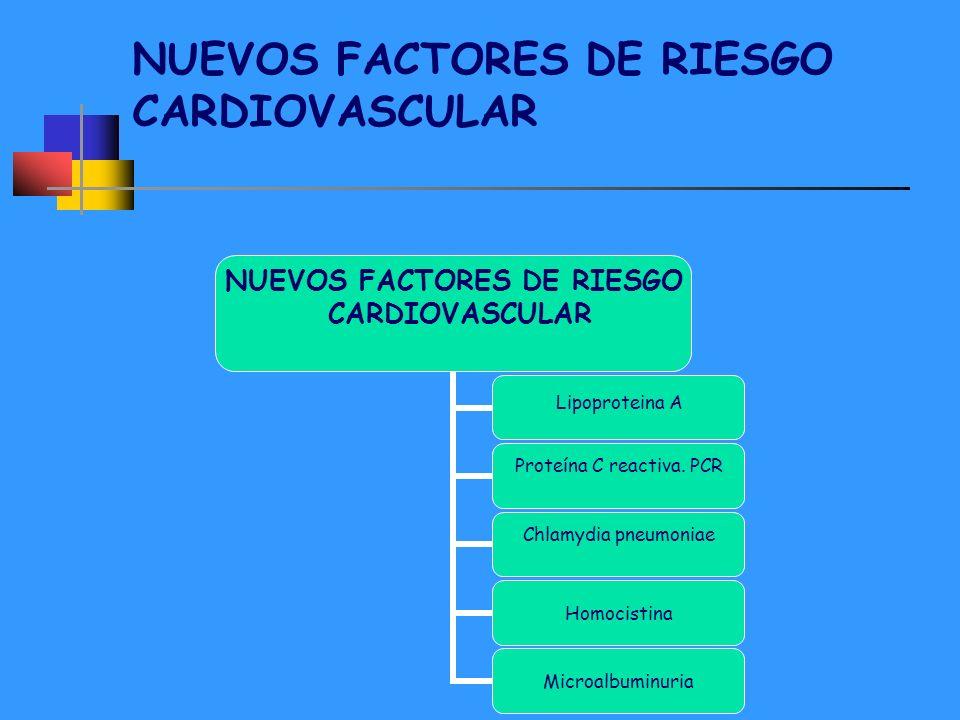NUEVOS FACTORES DE RIESGO CARDIOVASCULAR