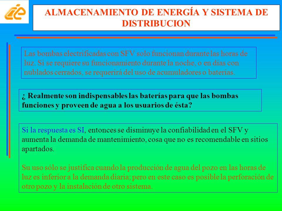ALMACENAMIENTO DE ENERGÍA Y SISTEMA DE DISTRIBUCION