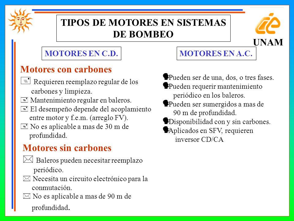 TIPOS DE MOTORES EN SISTEMAS DE BOMBEO