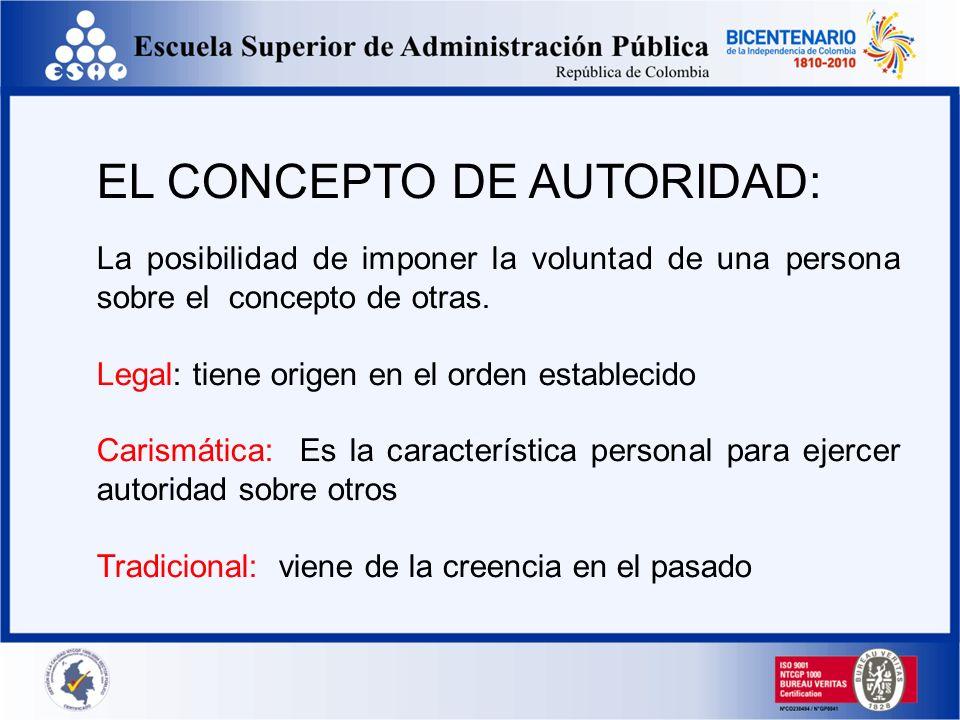 EL CONCEPTO DE AUTORIDAD: