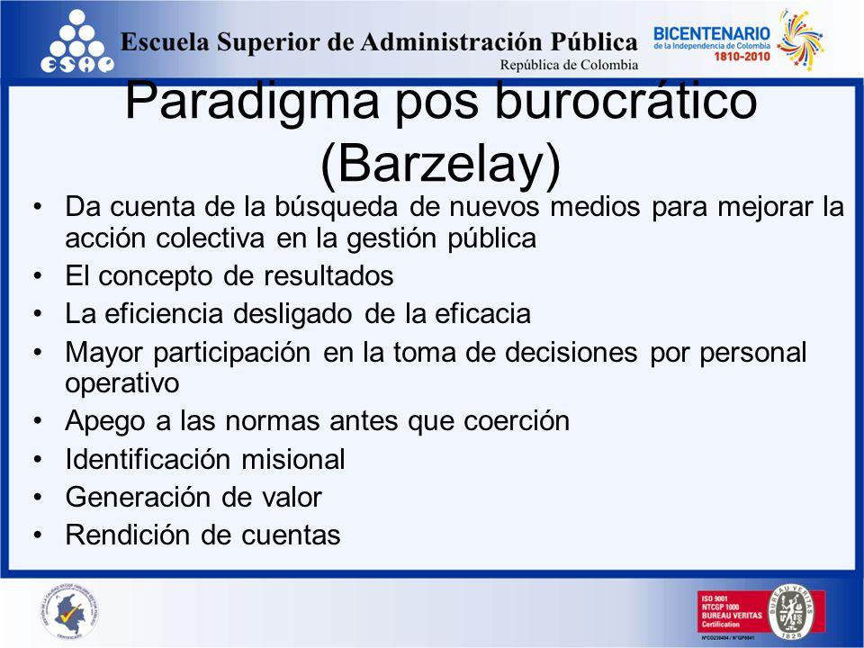 Paradigma pos burocrático (Barzelay)