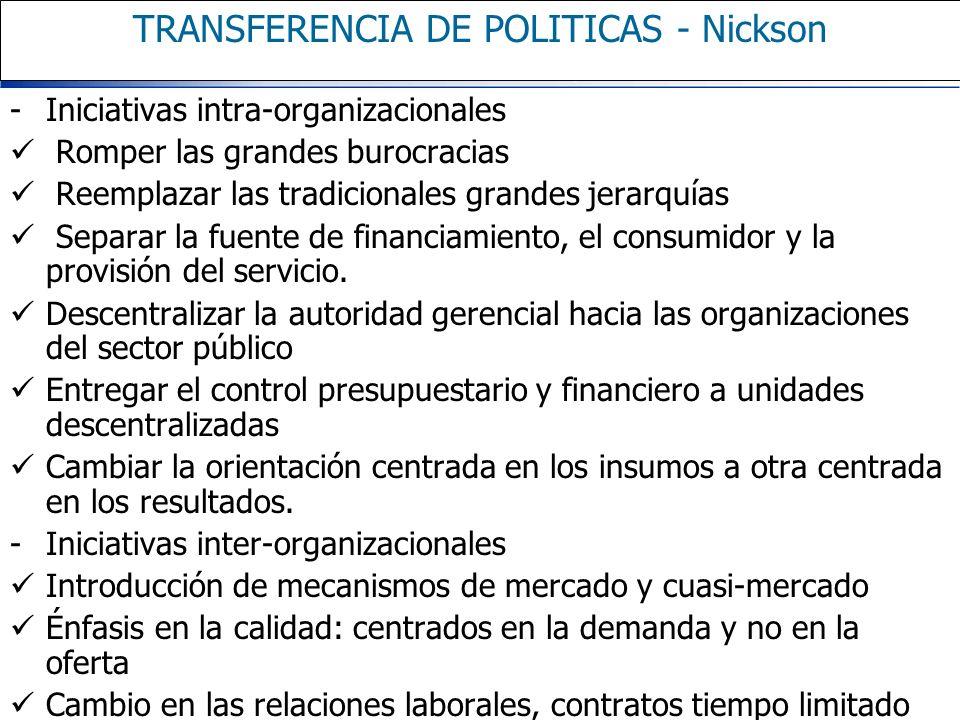 TRANSFERENCIA DE POLITICAS - Nickson