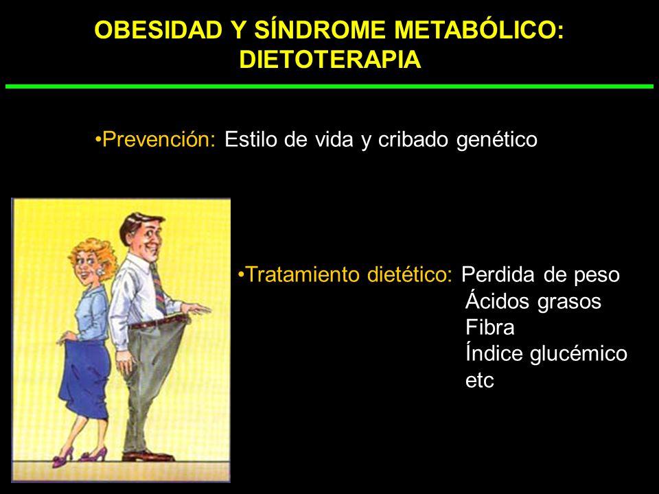 OBESIDAD Y SÍNDROME METABÓLICO: DIETOTERAPIA