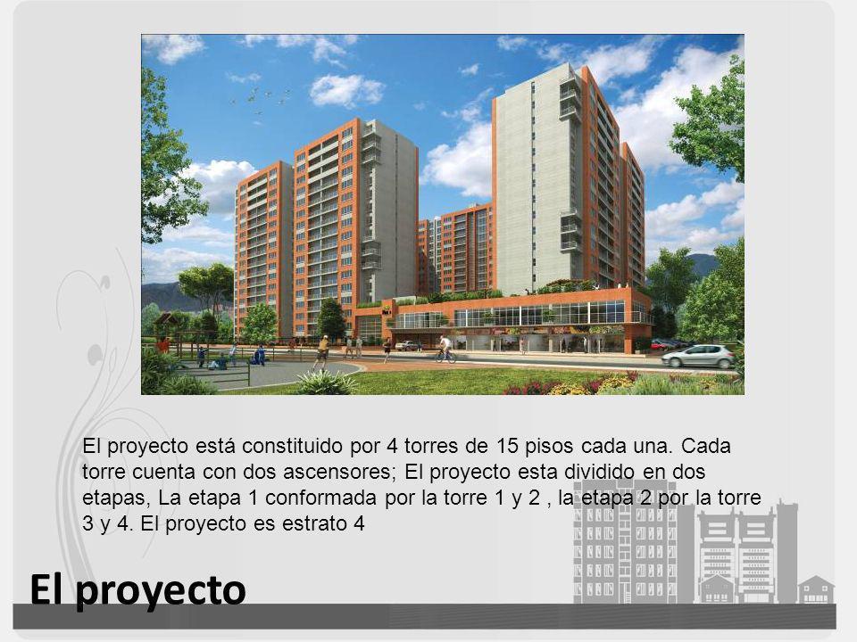 El proyecto está constituido por 4 torres de 15 pisos cada una