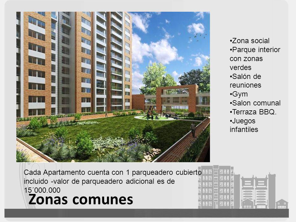 Zonas comunes Zona social Parque interior con zonas verdes