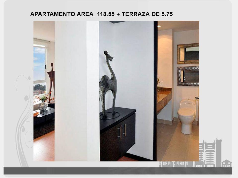 APARTAMENTO AREA 118.55 + TERRAZA DE 5.75