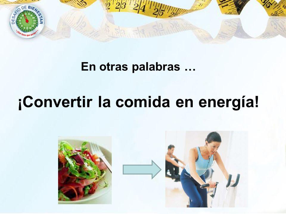 ¡Convertir la comida en energía!