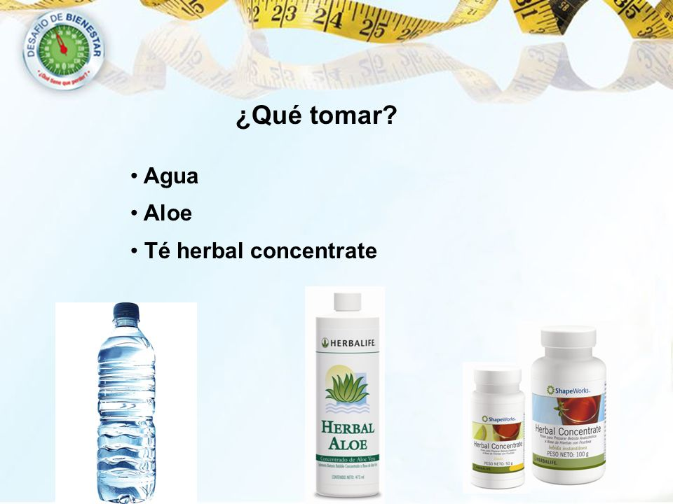 ¿Qué tomar Agua Aloe Té herbal concentrate 40