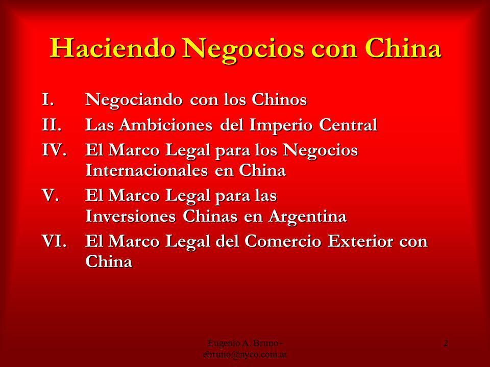 Haciendo Negocios con China