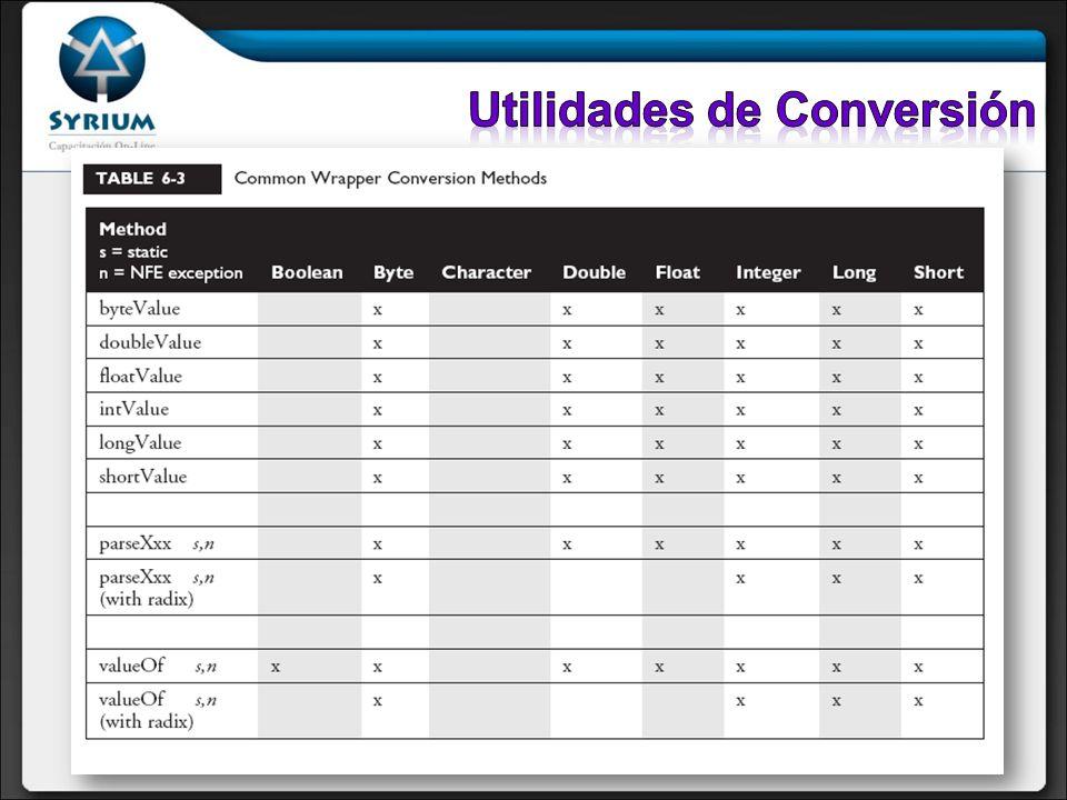 Utilidades de Conversión