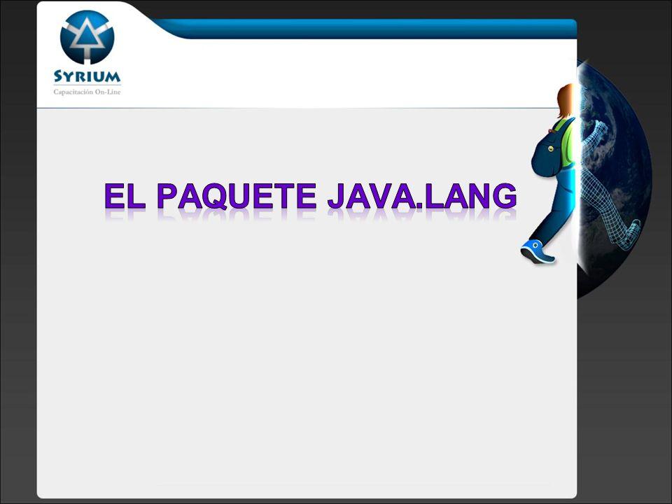 El Paquete java.lang