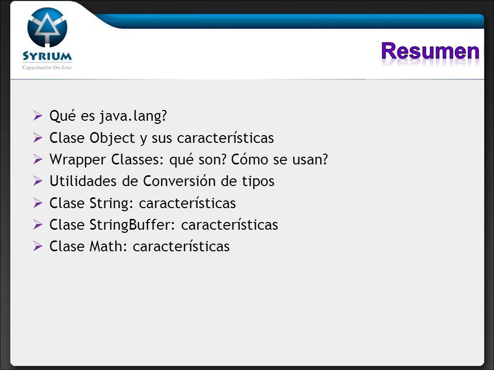 Resumen Qué es java.lang Clase Object y sus características