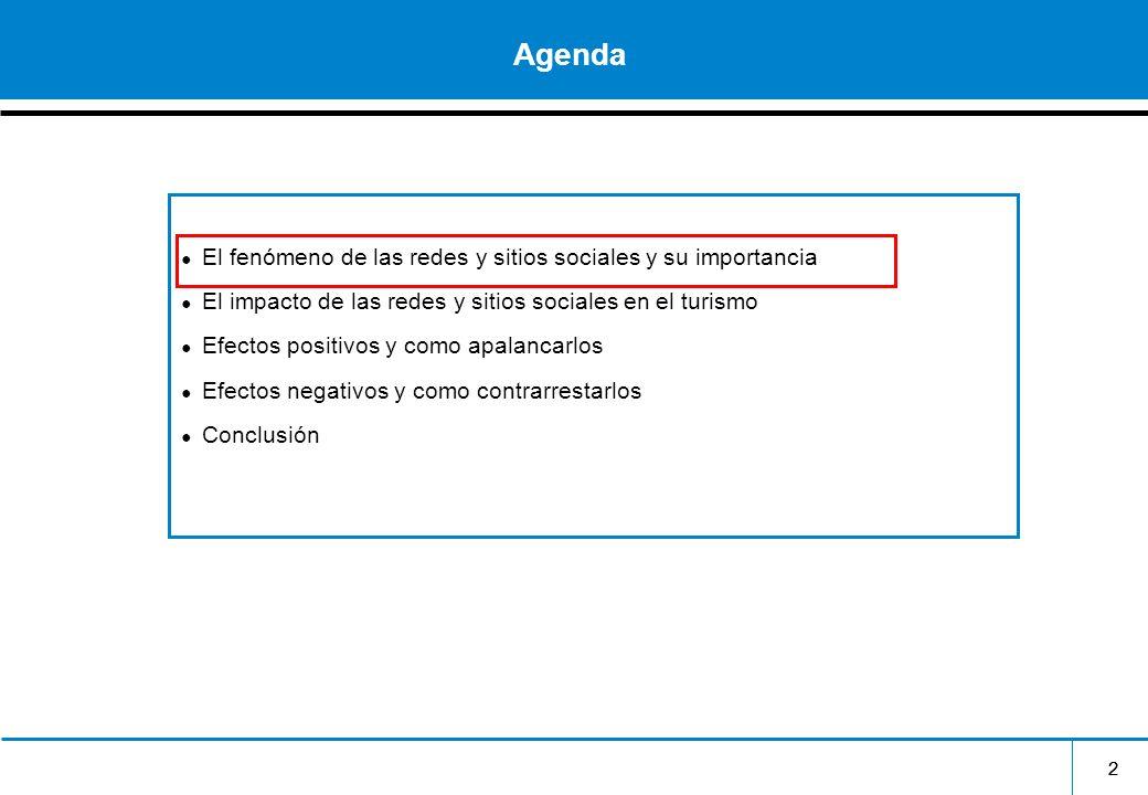 Agenda El fenómeno de las redes y sitios sociales y su importancia