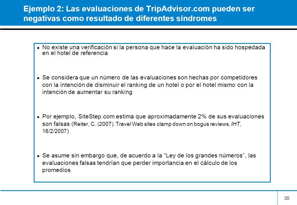 Ejemplo 2: Las evaluaciones de TripAdvisor