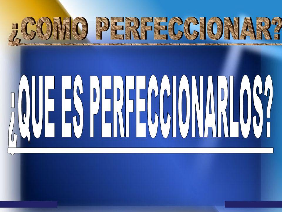 ¿QUE ES PERFECCIONARLOS