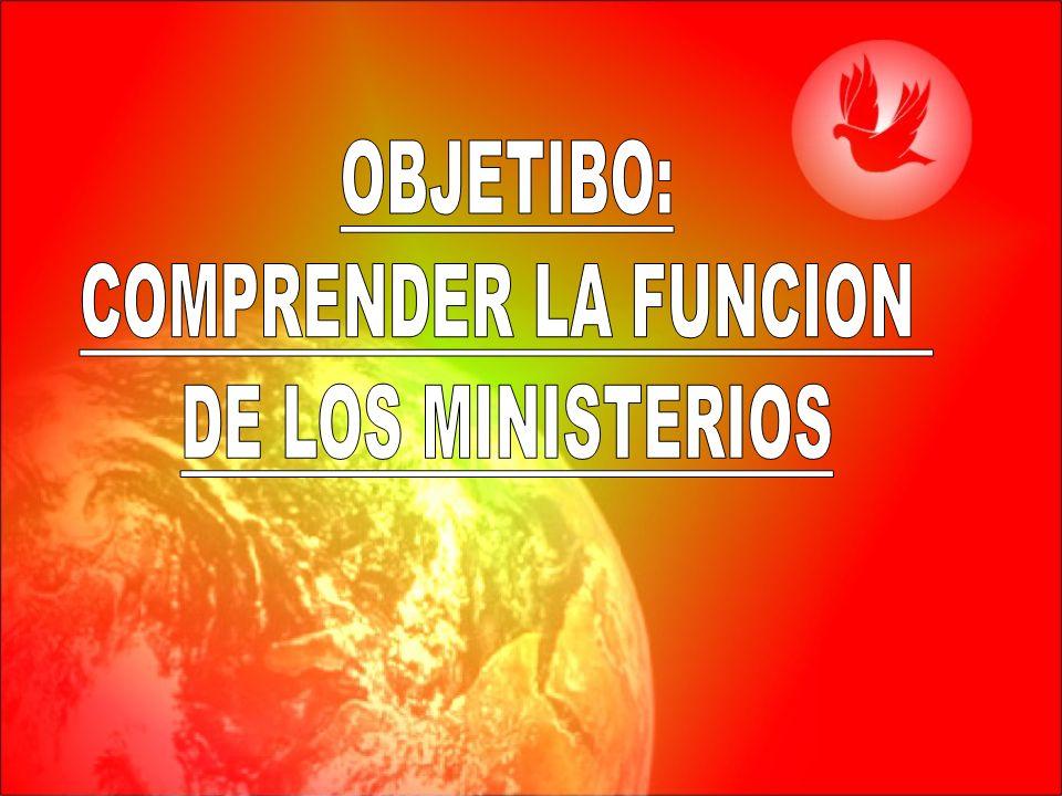 OBJETIBO: COMPRENDER LA FUNCION DE LOS MINISTERIOS