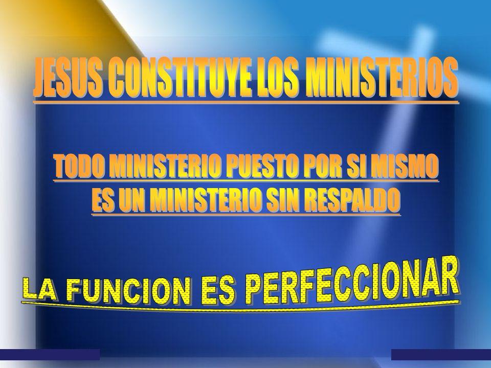 JESUS CONSTITUYE LOS MINISTERIOS